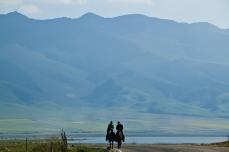shepherds riding along mtsho-sngon